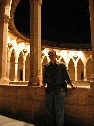 Jon chills in a castle in Palma de Mallorca, Spain